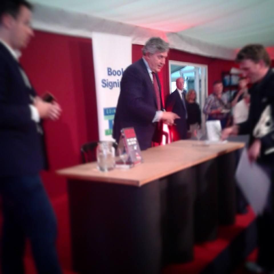 Gordon Brown Edinburgh Book Festival